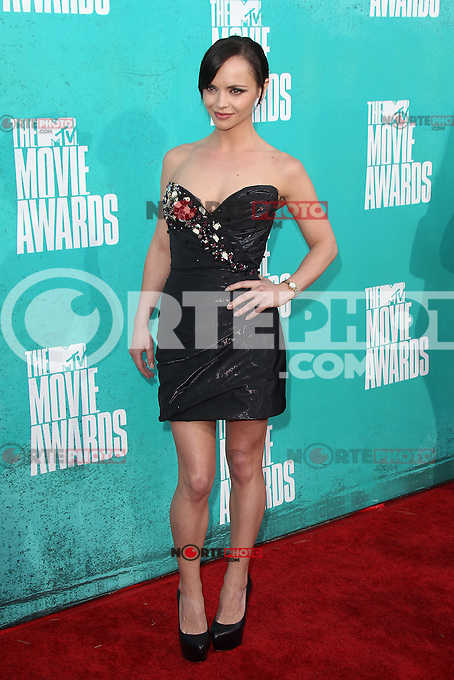 Christina Ricci at the 2012 MTV Movie Awards held at Gibson Amphitheatre on June 3, 2012 in Universal City, California. © mpi29/MediaPunch Inc.