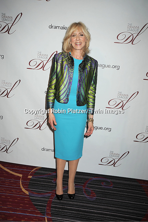 Judith Light in Victoria Beckham turquoise dress attends the 78th Annual  Drama League Awards Luncheon at The Marriott Marquis Hotel in New YOrk City on May 18, 2012.