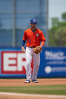 St. Lucie Mets third baseman Edgardo Fermin (2) during a Florida State League game against the Daytona Tortugas on August 11, 2019 at First Data Field in St. Lucie, Florida.  Daytona defeated St. Lucie 7-4.  (Mike Janes/Four Seam Images)