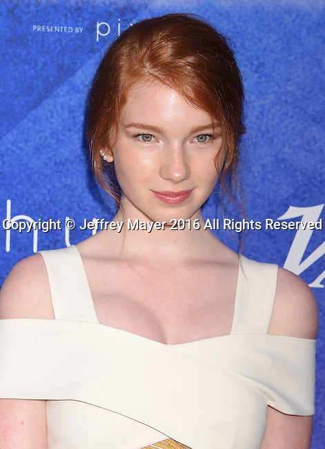 HOLLYWOOD, CA - AUGUST 16: Actress Annalise Basso arrives at Variety's Power Of Young Hollywood at NeueHouse Hollywood on August 16, 2016 in Los Angeles, California.