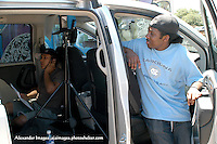 AJ Alexander - Director Erika Liciaga and Lindon on the set of Mind Over Matter on Friday May 13, 2011..Photo by AJ Alexander