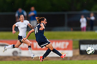 Sky Blue FC forward Lisa De Vanna (11) shoots and scores during the first half against the Seattle Reign FC during a National Women's Soccer League (NWSL) match at Yurcak Field in Piscataway, NJ, on May 11, 2013.