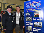 Vinnie McCoy from Meridian Security with inspector Paul Kiernan pictured at the Enterprise day in Ardee parish centre. Photo:Colin Bell/pressphotos.ie