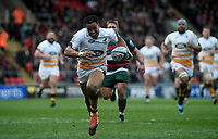 Wasps' Marcus Watson scores his side's second try<br /> <br /> Photographer Hannah Fountain/CameraSport<br /> <br /> Gallagher Premiership - Leicester Tigers v Wasps - Saturday 2nd March 2019 - Welford Road - Leicester<br /> <br /> World Copyright © 2019 CameraSport. All rights reserved. 43 Linden Ave. Countesthorpe. Leicester. England. LE8 5PG - Tel: +44 (0) 116 277 4147 - admin@camerasport.com - www.camerasport.com