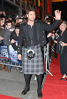 Scottish Actor Gerard Butler arrives at the Glasgow/UK premiere of his movie Law Abiding Citizen........