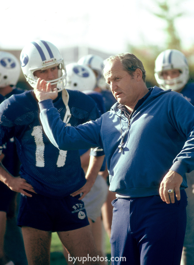 3-185<br /> <br /> Coach LaVell Edwards<br /> <br /> Photo by Mark Philbrick/BYU<br /> <br /> Copyright BYU Photo 2009<br /> All Rights Reserved<br /> photo@byu.edu  <br /> (801)422-7322