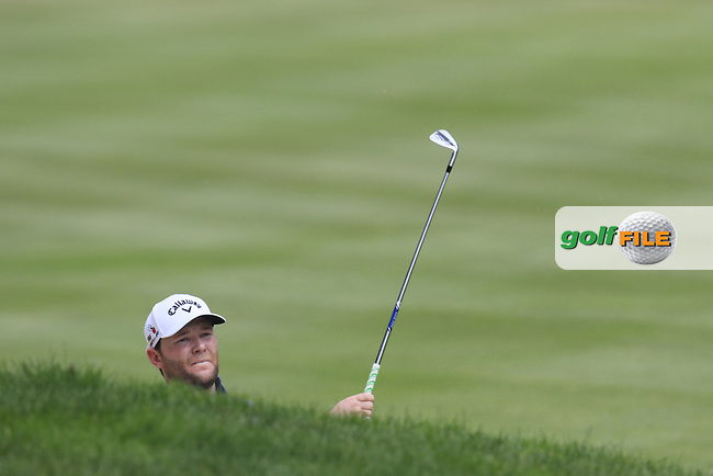 Branden GRACE (RSA) in a fairway bunker on the 2nd hole during Sunday's Final Round of the 2015 Bridgestone Invitational World Golf Championship held at the Firestone Country Club, Akron, Ohio, United States of America. 9/08/2015.<br /> Picture Eoin Clarke, www.golffile.ie