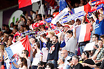 Olympique Lyonnais's supporters during UEFA Women's Champions League 2015/2016 Final match.May 26,2016. (ALTERPHOTOS/Acero)