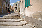 Italy, Elba, Marciana, Italian Hill Towns, Stone steps, Northwest Coast Elba, Province of Livorno; Italy, Mediterranean Islands, Europe;.