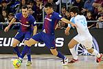 League LNFS 2017/2018 - Game 18.<br /> FC Barcelona Lassa vs Catgas Energia: 2-2.<br /> Dyego, Sergio Lozano &amp; Alvarez.