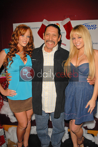 Christine Smith, Danny Trejo and Heather Renee Smith<br /> at Bridgetta Tomarchio B-Day Bash and Babes in Toyland Toy Drive, Lucky Strike, Hollywood, CA. 12-04-09<br /> David Edwards/Dailyceleb.com 818-249-4998