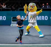 Rotterdam, The Netherlands, 9 Februari 2020, ABNAMRO World Tennis Tournament, Ahoy, Service game for kids<br /> Photo: www.tennisimages.com
