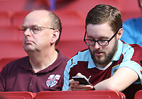 Burnley fans<br /> <br /> Photographer Rob Newell/CameraSport<br /> <br /> The Premier League - Arsenal v Burnley - Sunday 6th May 2018 - The Emirates - London<br /> <br /> World Copyright &copy; 2018 CameraSport. All rights reserved. 43 Linden Ave. Countesthorpe. Leicester. England. LE8 5PG - Tel: +44 (0) 116 277 4147 - admin@camerasport.com - www.camerasport.com