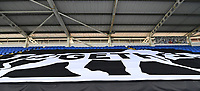 7th July 2020; Madejski Stadium, Reading, Berkshire, England; English Championship Football, Reading versus Huddersfield; the 'together tiger' at Reading to commemorate those stabbed in Reading in a recent attack