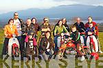 Members of Killarney Honda 50 motorbike club who are front row l-r: Rayann Coffey, Helen Fitzgerald, Brian Fitzgerald. Back row: Brid Coffey, Tom Coffey, Pat Moynihan, Emma Moynihan, Seamus Morrissey, Catriona Lynch, Mike Walsh, Mathew Sweetman, Paudie Fitzgerald and Mark Fitzgerald..   Copyright Kerry's Eye 2008