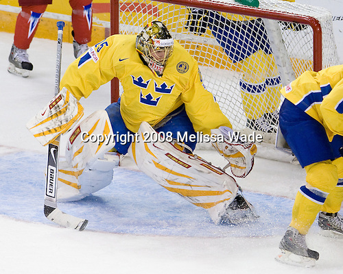 Jacob Markström (Sweden - 25) - Sweden defeated Russia 5-0 on Wednesday, December 31, 2008, at Ottawa Civic Centre Arena in Ottawa, Ontario during the 2009 World Junior Championship.