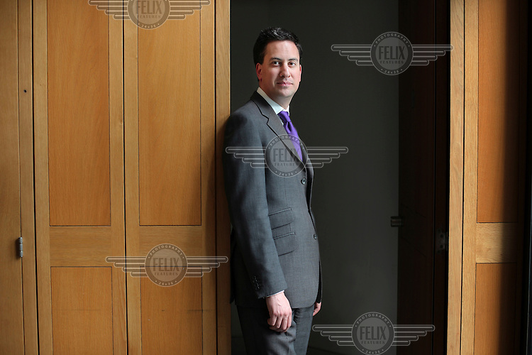 Ed Miliband, Labour MP for Doncaster North and former government minister, photographed at Portcullis House in London.
