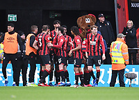 29th February 2020; Vitality Stadium, Bournemouth, Dorset, England; English Premier League Football, Bournemouth Athletic versus Chelsea; Joshua King of Bournemouth celebrates with his team on scoring in 57th minute making it 2-1