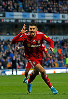 8th February 2020; Ewood Park, Blackburn, Lancashire, England; English Football League Championship Football, Aleksandar Mitrovic of Fulham celebrates after he scores his side's first goal to make the score 1-0 after 65 minutes
