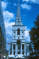 Nicholas Hawksmoor: Christ Church, Spitafields. Elevation. Photo '05.