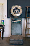 A scale sits in the equipment garage of David Brandt's 1,200-acre farm in central Ohio. Brandt grows corn, soy, wheat and hay on his farm that he runs with his wife, Kendra, in Carroll, Ohio. He has been practicing no-till farming since 1971, and has planted cover crops, such as winter peas, cabbage, clover and millet, which return nutrients to the soil, since 1978. His return to these traditional farming practices have allowed Brandt to drastically reduce his usage of fertilizers and pesticides, has increased the soil fertility and strengthened the land's tolerance to drought and excessive rain.