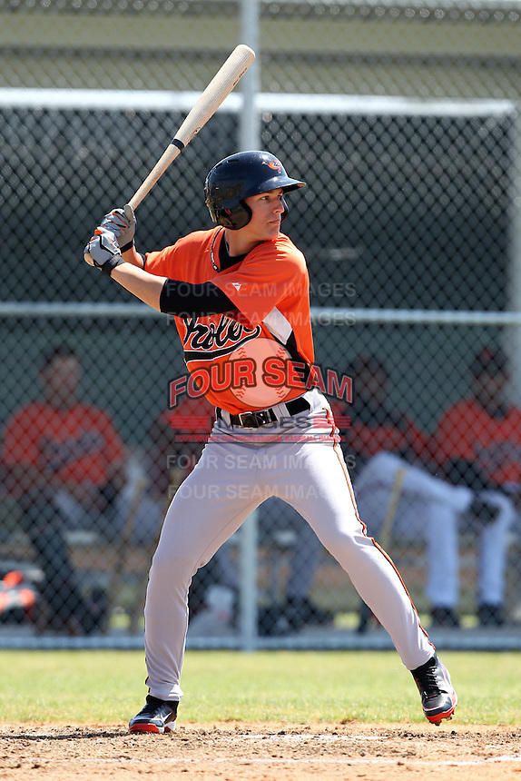 Baltimore Orioles minor league player Chris Clinton #53 during a spring training game vs the Boston Red Sox at the Buck O'Neil Complex in Sarasota, Florida;  March 22, 2011.  Photo By Mike Janes/Four Seam Images