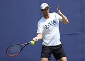 June 19th 2017, Queens Club, West Kensington, London; Aegon Tennis Championships, Day 1; Andy Murray during practise sessison