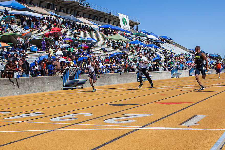 The 2013 Tommie Smith Youth Track Meet was held at University of California Berkeley's Edwards Stadium on Saturday and Sunday June 1-2, 2013. Tommie Smith broke the 200 meter world record at the 1968 Mexico City Olympics and became an international symbol for human rights when he received his Gold Medal.