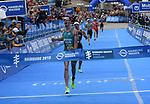 06.07.2019,  Innenstadt, Hamburg, GER, Hamburg Wasser World Triathlon, Elite Mainner, im Bild Sieger Jacob Birtwhistle (AUS) beim Zieleinlauf  Foto © nordphoto / Witke *** Local Caption ***