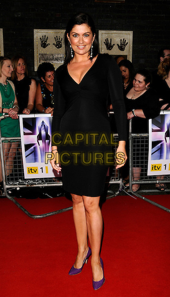 AMANDA LAMB.The Britain's Best 2008 Ceremony, The London Studios, South Bank, London, England..May 18th, 2008.full length black dress purple shoes .CAP/CAN.©Can Nguyen/Capital Pictures.