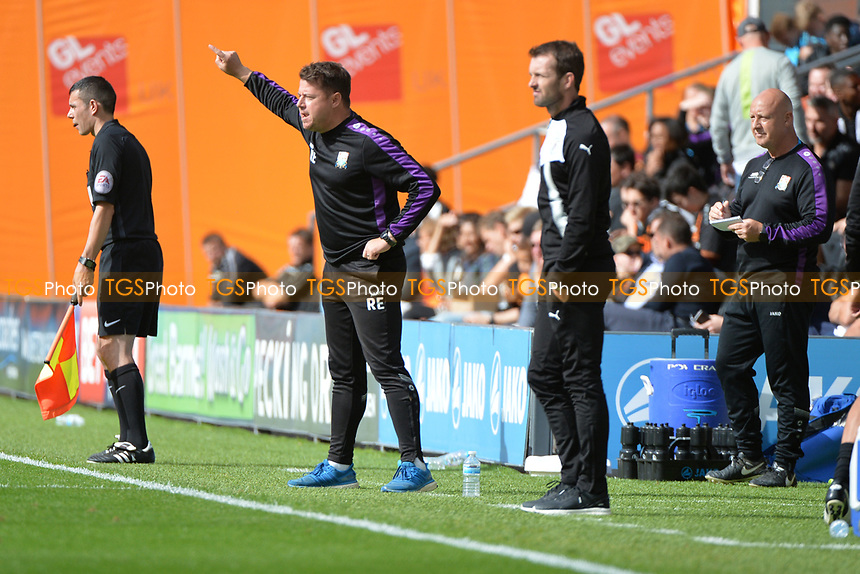 Luton Town manager Nathan Jones and Barnet manager Rossi Eames during Barnet vs Luton Town, Sky Bet EFL League 2 Football at the Hive Stadium on 12th August 2017