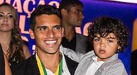 SAO PAULO, SP, 02 DE DEZEMBRO - PREMIO CRAQUE DO BRASILEIRÃO - Jean, jogador do Fluminense durante a cerimônia da Premiação Brasileirão 2012, na casa de shows HSBC Arena, na zona sul de São Paulo, nesta segunda-feira FOTO: VANESSA CARVALHO - BRAZIL PHOTO PRESS.