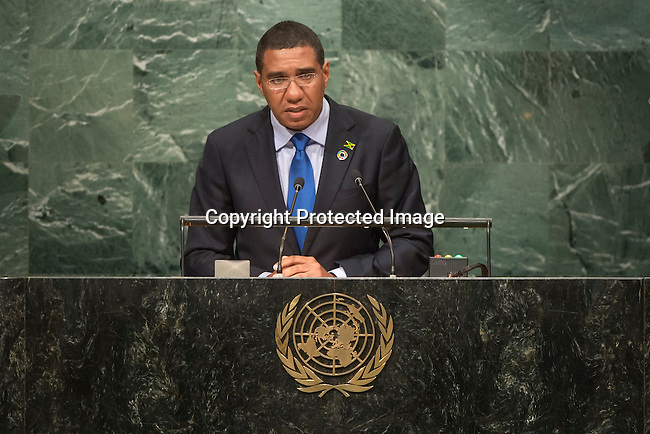 Jamaica<br /> H.E. Mr. Andrew Holness<br /> Prime Minister<br /> <br /> General Assembly Seventy-first session, 17th plenary meeting<br /> General Debate