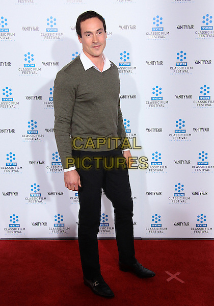 "CHRIS KLEIN .TCM Classic Film Festival - ""A Star Is Born"" - Arrivals held at Grauman's Chinese Theatre, Hollywood, California, USA, 22nd April 2010..full length grey gray jumper sweater white shirt black trousers .CAP/ADM/TC.©T. Conrad/AdMedia/Capital Pictures."