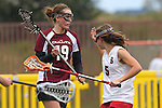 Santa Barbara, CA 02/19/11 - Anna Ponting (Stanford #5) and \m19\ in action during the Stanford - Minnesota-Duluth game at the 2011 Santa Barbara Shootout.