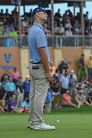 Kevin Streelman (USA) reacts to barely missing his par putt on 18 during day 4 of the Valero Texas Open, at the TPC San Antonio Oaks Course, San Antonio, Texas, USA. 4/7/2019.<br /> Picture: Golffile | Ken Murray<br /> <br /> <br /> All photo usage must carry mandatory copyright credit (© Golffile | Ken Murray)