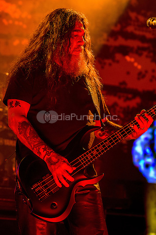 CLARKSTON, MI - JULY 11: Slayer performs during the Rockstar Energy Drink Mayhem Festival at DTE Energy Music Theatre on July 11, 2015 in Clarkston, Michigan. Photo Credit: Chris Schwegler / Retna Ltd. /MediaPunch