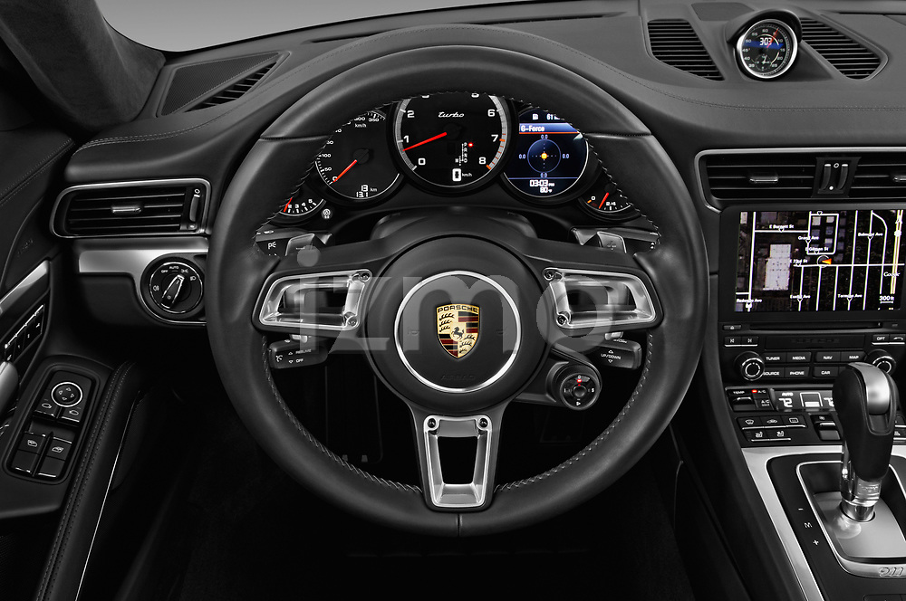 Car pictures of steering wheel view of a 2019 Porsche 911 Turbo-Coupe 2 Door Coupe Steering Wheel