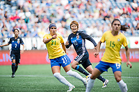 Seattle, WA - Thursday July 27, 2017:   Mizuho Sakaguchi during a 2017 Tournament of Nations match between the women's national teams of the Japan (JAP) and Brazil (BRA) at CenturyLink Field.