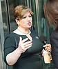 Andrew Marr Show <br /> departures <br /> BBC, Broadcasting House, London, Great Britain <br /> 9th April 2017 <br /> <br /> Emily Thornberry<br /> Shadow Foreign Secretary<br /> <br /> <br /> <br /> <br /> Photograph by Elliott Franks <br /> Image licensed to Elliott Franks Photography Services