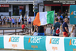 Irish fans fly the flag during Stage 1 of La Vuelta 2019, a team time trial running 13.4km from Salinas de Torrevieja to Torrevieja, Spain. 24th August 2019.<br /> Picture: Eoin Clarke | Cyclefile<br /> <br /> All photos usage must carry mandatory copyright credit (© Cyclefile | Eoin Clarke)
