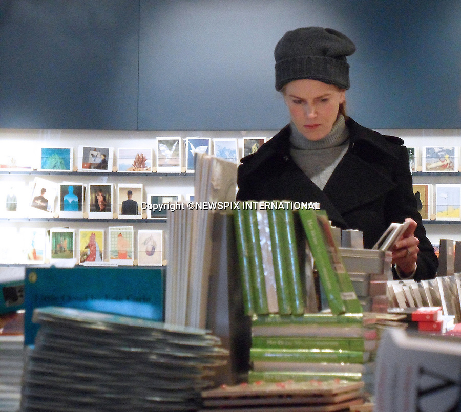 """EXCLUSIVE! Must telephone +441279 324672 for Usage/Reproduction Fees.Web Use Forbidden unless prior negotiated agreement...NICOLE KIDMAN_BELGIUM.goes shopping after completion of shooting """"Grace of Monaco""""_Brussels, Belgium_01/12/2012.Mandatory Photo Credit: ©NEWSPIX INTERNATIONAL..**ALL FEES PAYABLE TO: """"NEWSPIX INTERNATIONAL""""**..PHOTO CREDIT MANDATORY!!: NEWSPIX INTERNATIONAL..IMMEDIATE CONFIRMATION OF USAGE REQUIRED:.Newspix International, 31 Chinnery Hill, Bishop's Stortford, ENGLAND CM23 3PS.Tel:+441279 324672  ; Fax: +441279656877.Mobile:  0777568 1153.e-mail: info@newspixinternational.co.uk"""