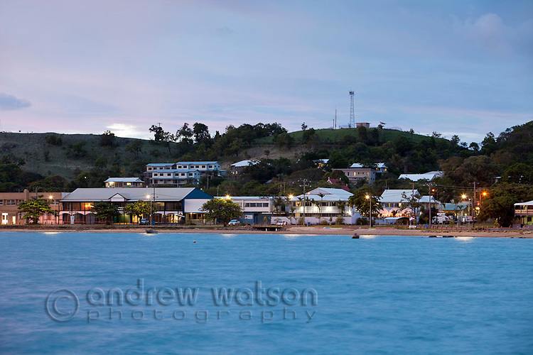 Victoria Parade foreshore at dusk.  Thursday Island, Torres Strait Islands, Queensland, Australia
