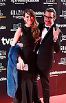 Actress Elena Ballesteros and Dani Mateo attend Goya Cinema Awards 2014 red carpet at Centro de Congresos Principe Felipe on February 9, 2014 in Madrid, Spain. (ALTERPHOTOS/Victor Blanco)