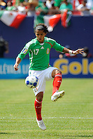 Giovani Dos Santos (17) of Mexico (MEX). Mexico (MEX) defeated the United States (USA) 5-0 during the finals of the CONCACAF Gold Cup at Giants Stadium in East Rutherford, NJ, on July 26, 2009.
