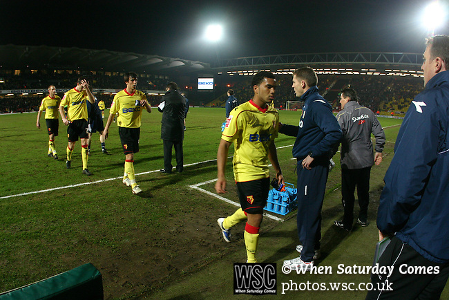 Watford 2 Swansea City 0, 17/02/2009. Vicarage Road, Watford. Championship. Photo by Tony Davis.