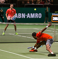 Rotterdam, The Netherlands, 16 Februari 2019, ABNAMRO World Tennis Tournament, Ahoy, Semis, Gael Monfils (FRA) - Daniil Medvedev (RUS),<br /> Photo: www.tennisimages.com/Henk Koster