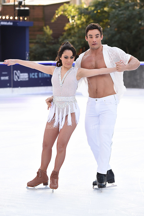 Max Evans &amp; Ale Izquierdo at the &quot;Dancing on Ice&quot; launch photocall at the Natural History Museum, London, UK. <br /> 19 December  2017<br /> Picture: Steve Vas/Featureflash/SilverHub 0208 004 5359 sales@silverhubmedia.com