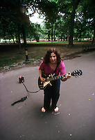 NewYork, NY October 1979 - Kathy Neiderhoffer performing on the Mall in Central Park