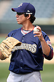 April 11, 2010:  Pitcher Tom Milone of the Harrisburg Senators during a game at Blair County Ballpark in Altoona, PA.  Harrisburg is the Double-A Eastern League affiliate of the Washington Nationals.  Photo By Mike Janes/Four Seam Images